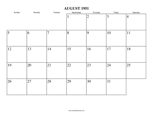... month: July 1951 | All 1951 Calendars | Calendars for other years