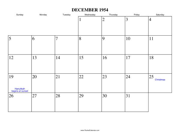 December Calendar Online