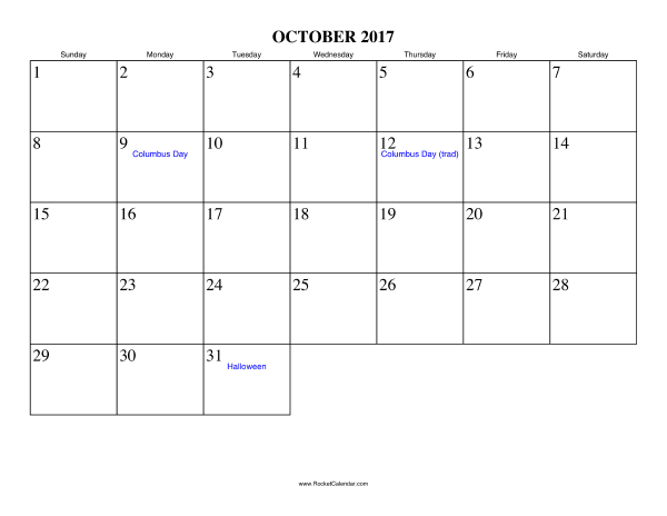 2017 September And October Calendar | Printable Calendars 2017